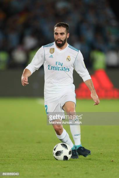 Daniel Carvajal of Real Madrid in action during the FIFA Club World Cup UAE 2017 final match between Gremio and Real Madrid CF at Zayed Sports City...