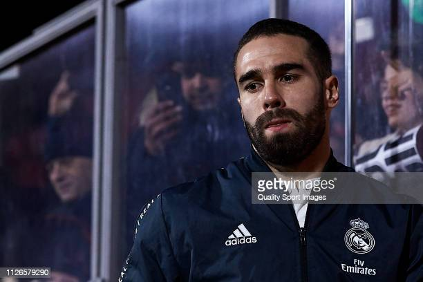 Daniel Carvajal of Real Madrid looks on before the Copa del Rey second leg Quarter Final match between Girona FC and Real Madrid at Montilivi Stadium...