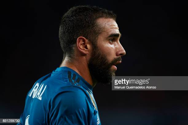 Daniel Carvajal of Real Madrid looks on during the Supercopa de Espana Supercopa Final 1st Leg match between FC Barcelona and Real Madrid at Camp Nou...