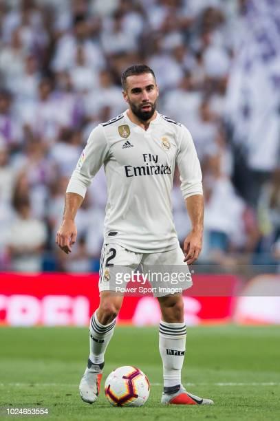 AUGUST 19 Daniel Carvajal Ramos of Real Madrid in action during the La Liga match between Real Madrid CF and Getafe CF at Estadio Santiago Bernabeu...