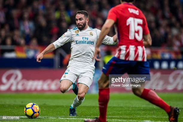 Daniel Carvajal Ramos of Real Madrid in action during the La Liga 201718 match between Atletico de Madrid and Real Madrid at Wanda Metropolitano on...