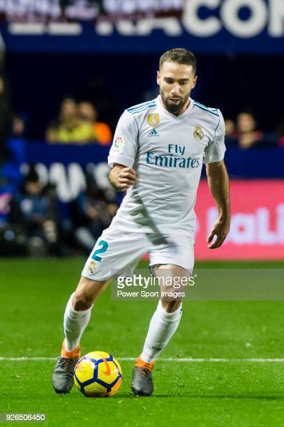 Daniel Carvajal Ramos of Real Madrid in action during the La Liga 201718 match between Levante UD and Real Madrid at Estadio Ciutat de Valencia on 03...