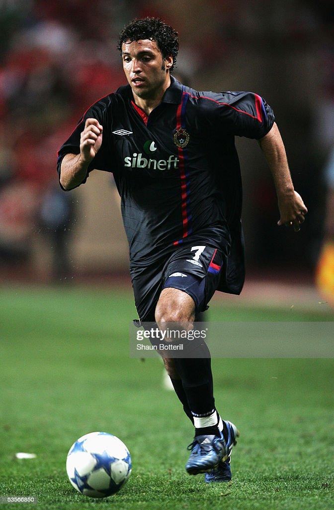 Daniel Carvalho of CSKA Moscow in action during the UEFA Super Cup match between Liverpool and CSKA Moscow at the Stade Louis II on August 26, 2005 in Monte Carlo, Monaco.
