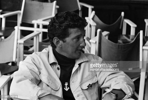 Daniel Cauchy lors du tournage du film 'Le gendarme de SaintTropez' réalisé par Jean Girault le 4 juin 1964 à SaintTropez France