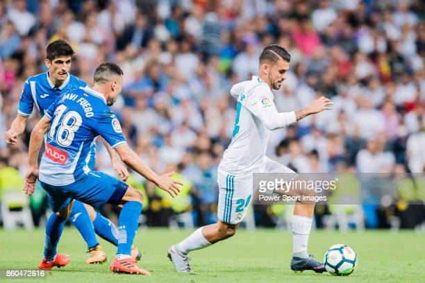 Daniel Ceballos Fernandez D Ceballos of Real Madrid fights for the ball with Javi Fuego of RCD Espanyol during the La Liga 201718 match between Real...
