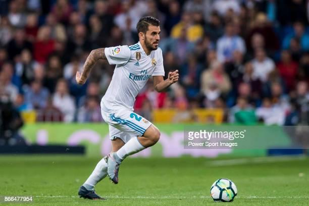 Daniel Ceballos Fernandez D Ceballos of Real Madrid in action during the La Liga 201718 match between Real Madrid and SD Eibar at Estadio Santiago...
