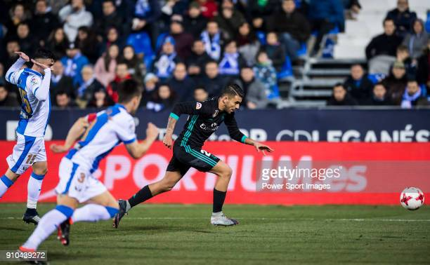 Daniel Ceballos Fernandez D Ceballos of Real Madrid is followed by CD Leganes' players during the Copa del Rey 201718 match between CD Leganes and...