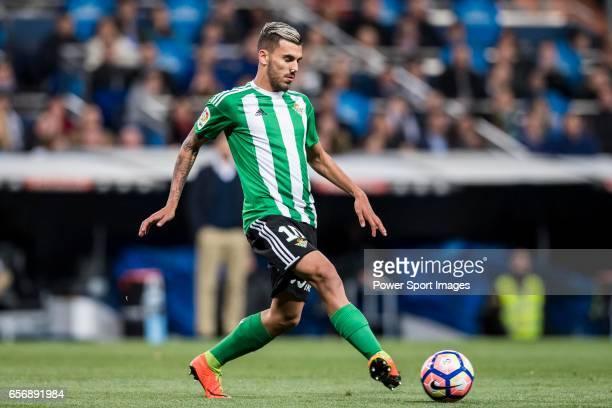 Daniel Ceballos Fernandez Dani Ceballos of Real Betis in action during their La Liga match between Real Madrid and Real Betis at the Santiago...