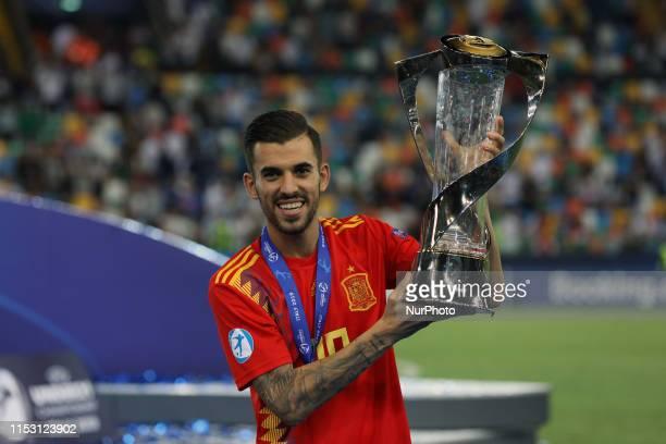 Daniel Ceballos Fernandez of Spain U21 during the Uefa Under 21 European Championship final match between Spain and Germany at Stadio Friuli on June...