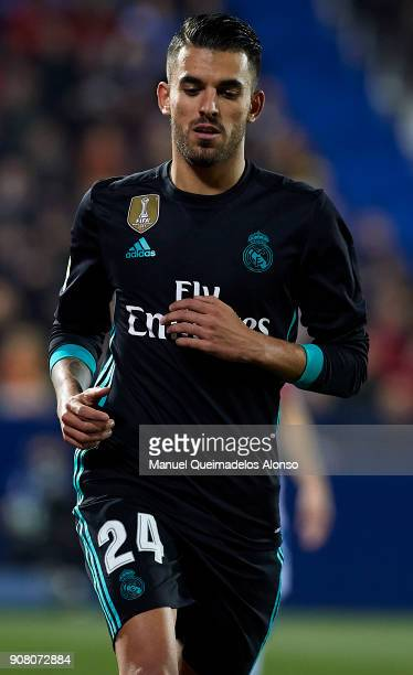 Daniel Ceballos of Real Madrid CF looks on during the Copa del Rey quarter final first leg match between Real Madrid CF and Club Deportivo Leganes at...