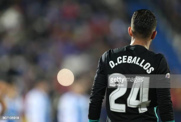 Daniel Ceballos of Real Madrid during the Copa del Rey quarter final first leg match between Real Madrid CF and Club Deportivo Leganes at Estadio...