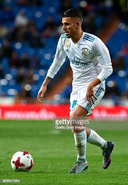 Daniel Ceballos of Real Madrid in action during the Copa del Rey Round of 16 second Leg match between Real Madrid and Numancia at Bernabeu on January...