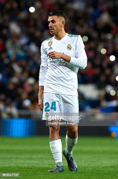 Daniel Ceballos of Real Madrid looks on during the Copa del Rey Round of 16 second Leg match between Real Madrid and Numancia at Bernabeu on January...