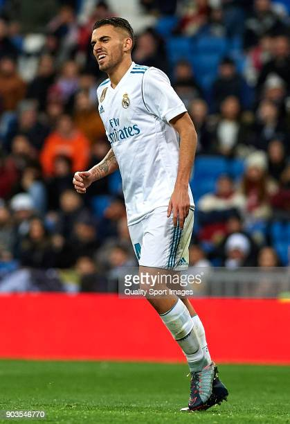 Daniel Ceballos of Real Madrid reacts during the Copa del Rey Round of 16 second Leg match between Real Madrid and Numancia at Bernabeu on January 10...
