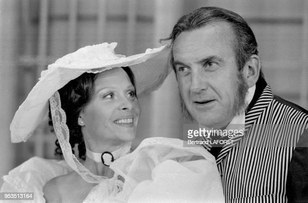 Daniel Ceccaldi et Christiane Minazzoli dans la pièce de théâtre 'Le Don Juan de la Creuse' à Paris en septembre 1983 France