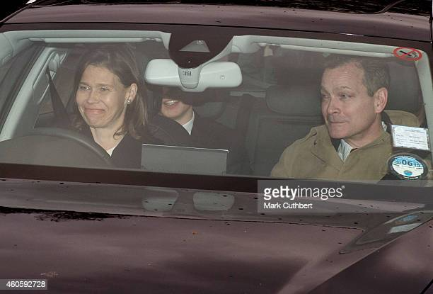 Daniel Chatto and Lady Sarah Chatto attend a Christmas Lunch at Buckingham Palace on December 17 2014 in London England