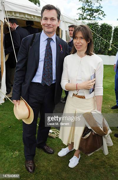 Daniel Chatto and Lady Sarah Chatto attends the Cartier Style Luxury Lunch at the Goodwood Festival of Speed on July 1 2012 in Chichester England