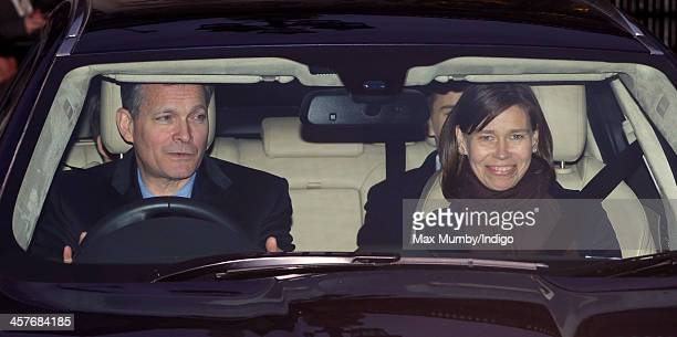 Daniel Chatto and Lady Sarah Chatto leave Buckingham Palace after attending a Christmas Lunch hosted by Queen Elizabeth II on December 18 2013 in...