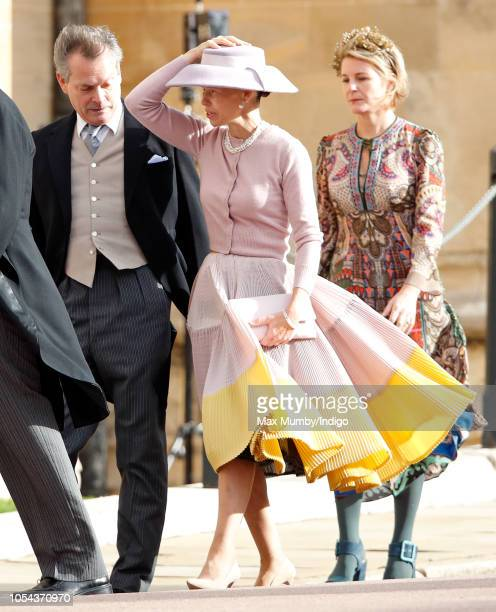 Daniel Chatto Lady Sarah Chatto and Serena Countess of Snowdon attends the wedding of Princess Eugenie of York and Jack Brooksbank at St George's...