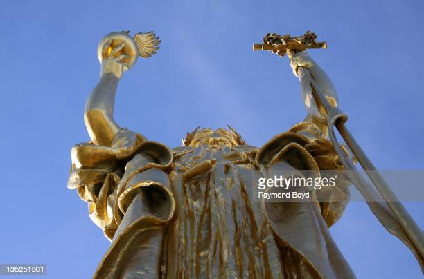 """Daniel Chester French's """"The Republic"""" sculpture, dedicated in 1918 to commemorate the 25th Anniversary of the 1893 World's Columbian Exposition in..."""