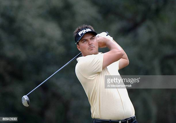 Daniel Chopra drives from the ninth tee during the final round of the 2005 Chrysler Championship October 30 in Palm Harbor