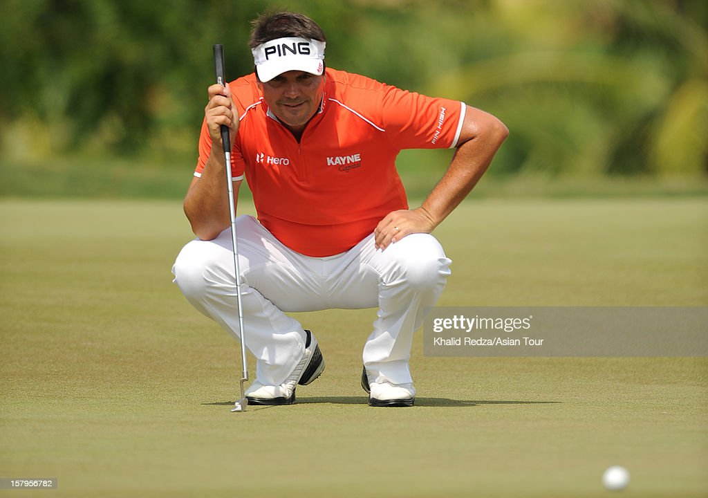 Daniel Chopra of Sweden in action during round three of the Thailand Golf Championship at Amata Spring Country Club on December 8, 2012 in Bangkok, Thailand.