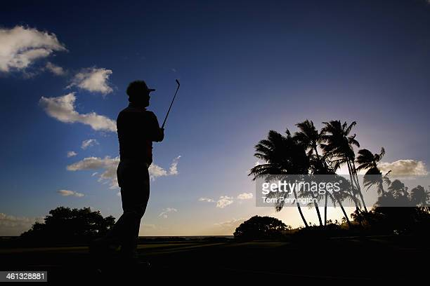 Daniel Chopra of Sweden plays a hole during a practice round prior to the Sony Open in Hawaii at Waialae Country Club on January 7 2014 in Honolulu...