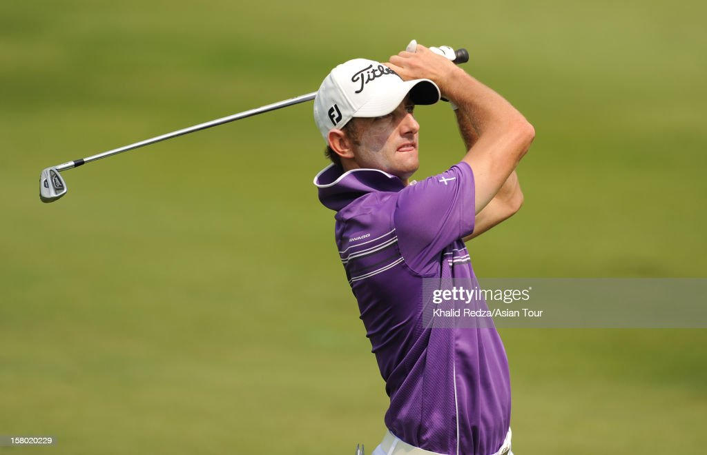 Daniel Chopra of Sweden plays a shot during round four of the Thailand Golf Championship at Amata Spring Country Club on December 9, 2012 in Bangkok, Thailand.