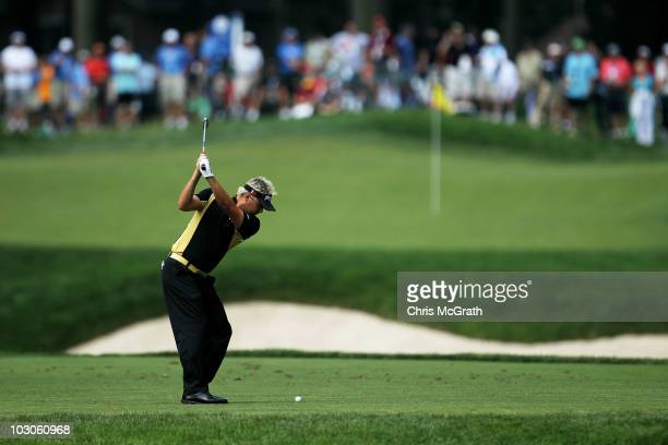 Daniel Chopra of Sweden plays off the sixth tee during round two of the 2010 RBC Canadian Open at St. George's Golf and Country Club on July 23, 2010...