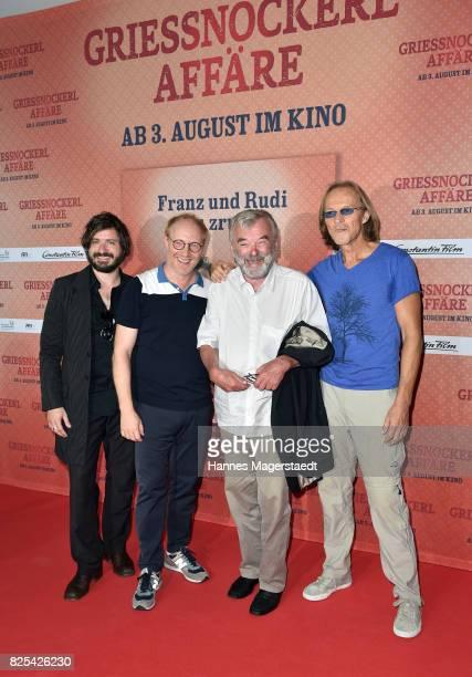 Daniel Christensen alias 'Floetzinger' Simon Schwarz Branko Samarovski and Eisi Gulp and during the 'Griessnockerlaffaere' premiere at Mathaeser...
