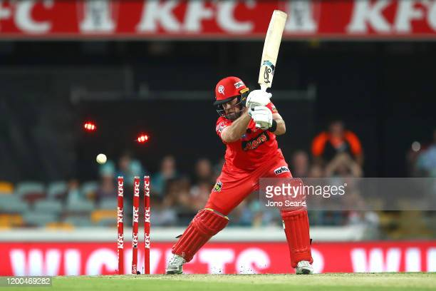 Daniel Christian of the Renegades is bowled out during the Bash Bash League match between the Brisbane Heat and Melbourne Renegades at The Gabba on...