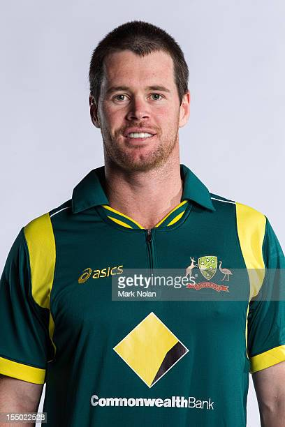 Daniel Christian poses during the official Australian One Day International cricket team headshots session on August 9 2012 in Darwin Australia