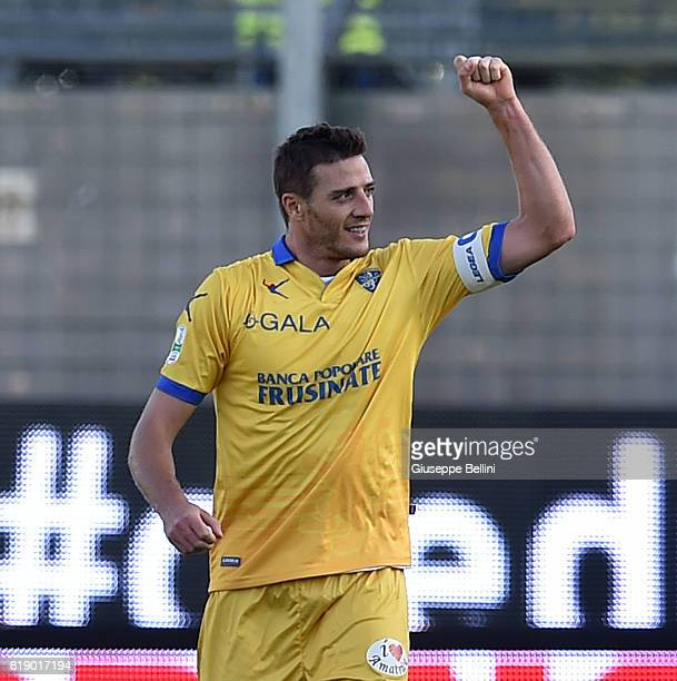 Daniel Ciofani of Frosinone Calcio celebrates after scoring the goal 21 during the Serie B match between Frosinone Calcio and AC Cesena at Stadio...