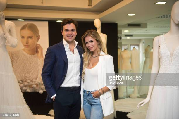 Daniel Clara and Agueda Lopez attend the press during the Rosa Clara opening showroom on April 20 2018 in Sant Just Desvern Spain