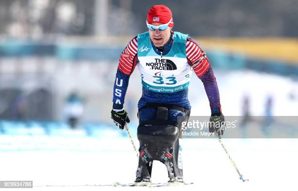 Daniel Cnossen of the United States during the Mens 75 km Sitting Biathlon competition at Alpensia Biathlon Centre on Day 1 of the PyeongChang 2018...