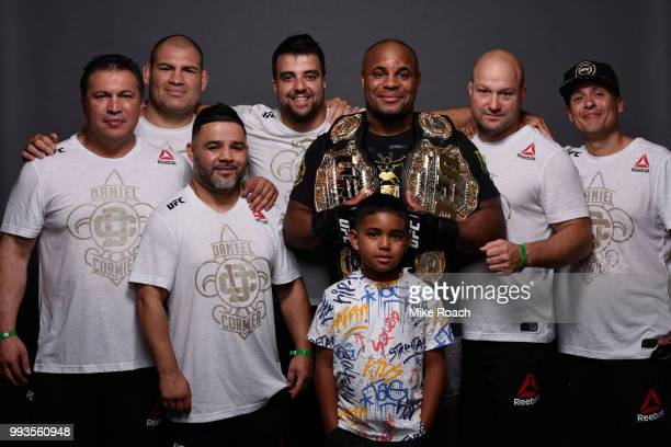 Daniel Cormier and team pose for a portrait backstage during the UFC 226 event inside TMobile Arena on July 7 2018 in Las Vegas Nevada