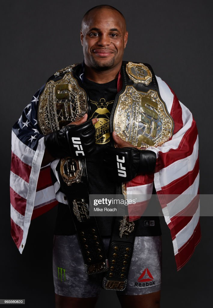 Daniel Cormier poses for a portrait backstage during the UFC 226 event inside T-Mobile Arena on July 7, 2018 in Las Vegas, Nevada.