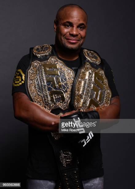 Daniel Cormier poses for a portrait backstage during the UFC 226 event inside TMobile Arena on July 7 2018 in Las Vegas Nevada
