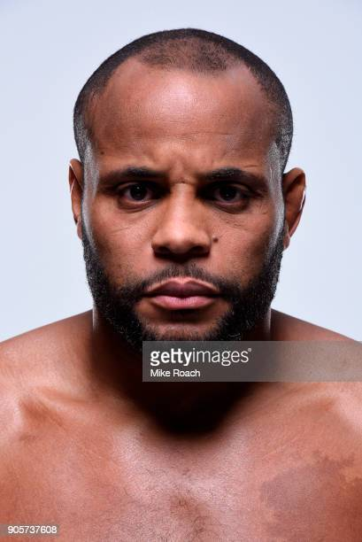 Daniel Cormier poses for a portrait during a UFC photo session on January 16 2018 in Boston Massachusetts
