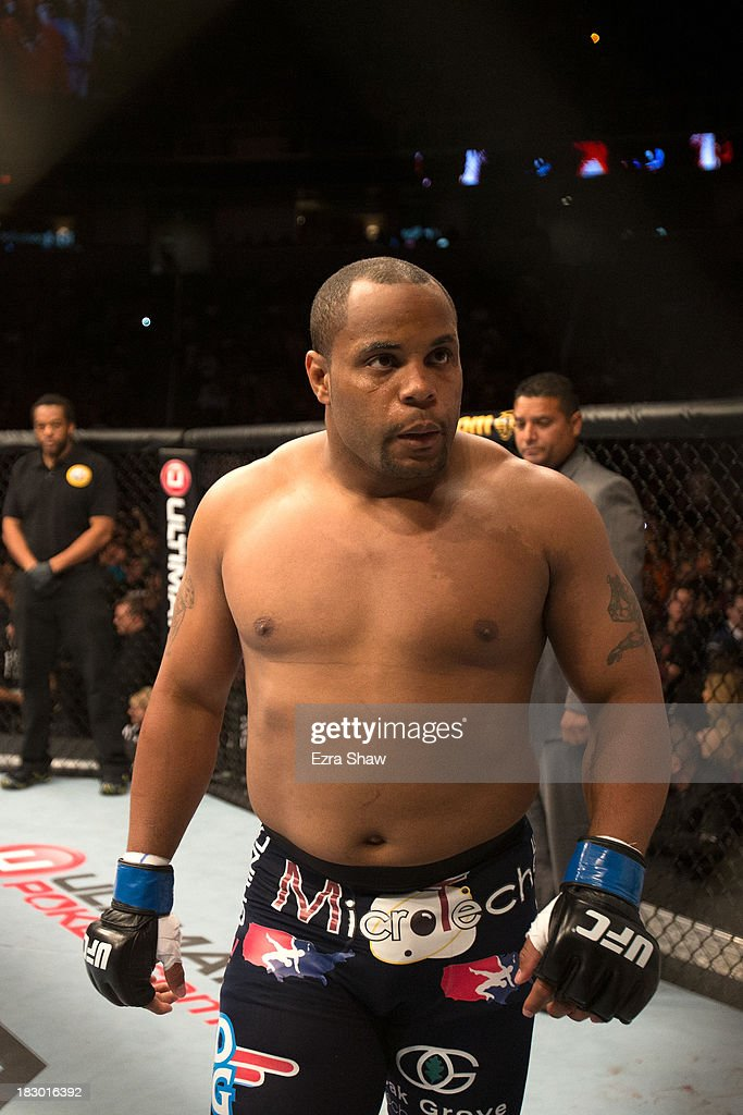 Daniel Cormier waits in his corner prior to facing Frank Mir (not pictured) in their heavyweight bout during the UFC on FOX event at the HP Pavilion on April 20, 2013 in San Jose, California.