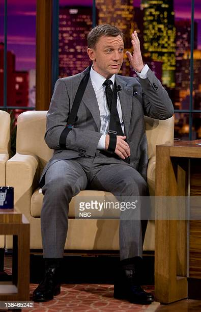 LENO Daniel Craig Air Date Episode 3643 Pictured Actor Daniel Craig during an interview on October 17 2007