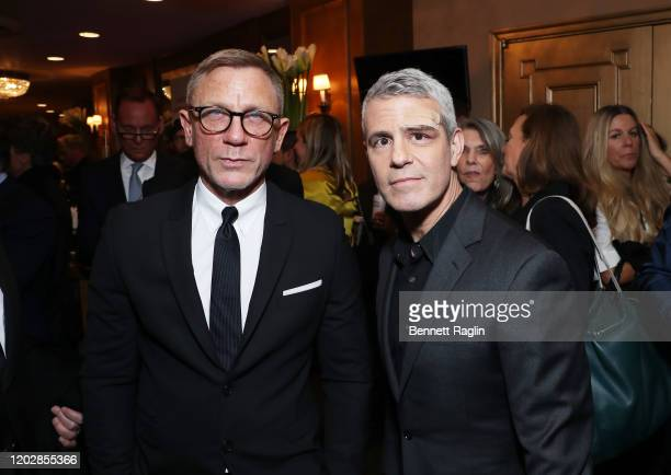 Daniel Craig and Andy Cohen attend the Lincoln Center American Songbook Gala honoring Bonnie Hammer at Broadway Theatre on January 29, 2020 in New...