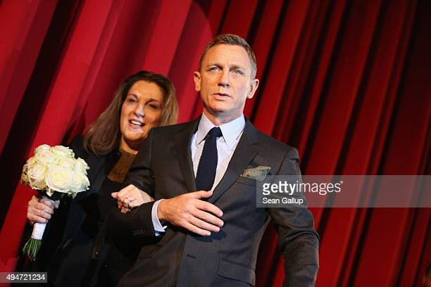Daniel Craig and Barbara Broccoli attend the German premiere of the new James Bond movie 'Spectre' at CineStar on October 28 2015 in Berlin Germany