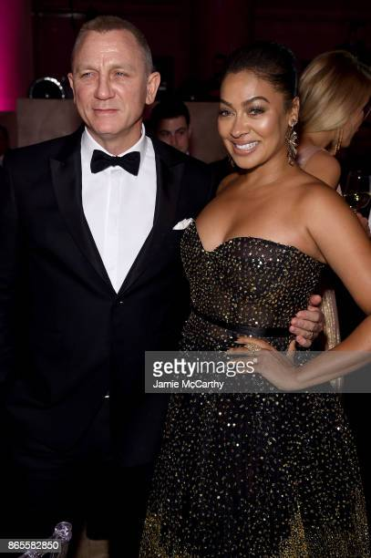 Daniel Craig and La La Anthony attend Gabrielle's Angel Foundation's Angel Ball 2017 at Cipriani Wall Street on October 23 2017 in New York City
