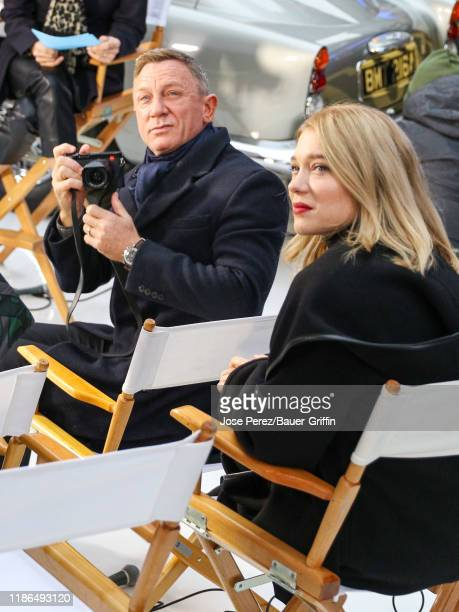 Daniel Craig and Lea Seydoux are seen arriving at 'Good Morning America' show on December 04 2019 in New York City