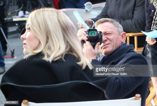 Daniel Craig and Lea Seydoux are seen on December 04 2019 in New York City