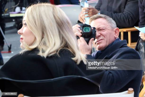 Daniel Craig and Lea Seydoux are seen on December 04, 2019 in New York City.