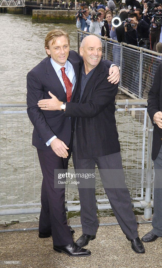 Daniel Craig and Martin Campbell during Daniel Craig Unveiled as the New James Bond in 'Casino Royale' - Photocall at HMS President 72, St Katharine's Way E1 in London, Great Britain.