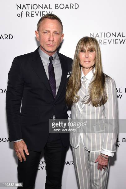 Daniel Craig and National Board of Review President Annie Schulhof attend The National Board of Review Annual Awards Gala at Cipriani 42nd Street on...