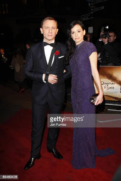 Daniel Craig and partner Satsuki Mitchell attend the world premiere of 'Quantum of Solace' at Odeon Leicester Square on October 29, 2008 in London,...